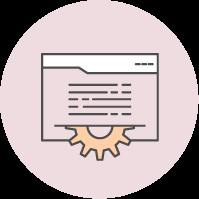 web develop icon, Alpha Brands